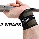 WARM BODY COLD MIND Premium Cotton Wrist Wraps for Olympic Weight Lifting, Powerlifting,...