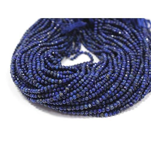 Pcs Dyed  Gemstones Jewellery Lapis Lazuli Plain Rondelle Beads 5x8mm Blue 62