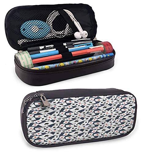 IOPLK Estuche para bolígrafos y lápices, tarjetas de juego con múltiples ases, organizador de regalos con cierre de cremallera, 8 x 3.5 x 1.5 pies