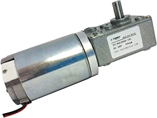 BEMONOC Electric DC Worm Gear Motor 24V Metal Gear Motor 50rpm High Torque with Gearbox for DIY Parts