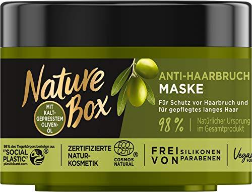 Nature Box Anti-Haarbruch-Maske Oliven-Öl Kur, 200 ml