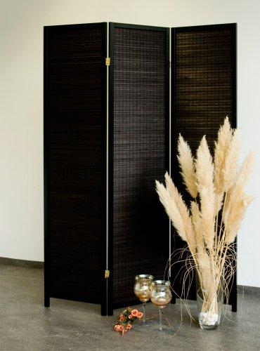 Paravent Black Wood 3, dekorativer Holz Paravent schwarz, Paravents by Cilios®