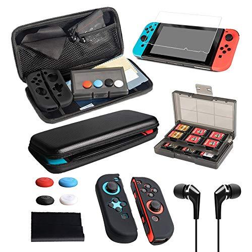 Flysee Kit de Accesorios 13 en 1 Funda de Transporte para Nintendo...