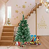 Asina Albero di Natale Artificiale PVC con Neve e Pigne Artificiale Decorazione di Verde Alberi di Natale Artificiali incl. Supporto(120cm con 180 Punte)