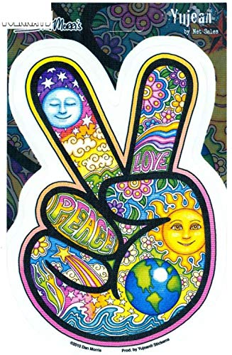 Mode Dan Morris Peace Fingers Zubehör Reflektierende Abdeckung Kratzer Sonnenschutz Aufkleber, 10 cm * 14 cm