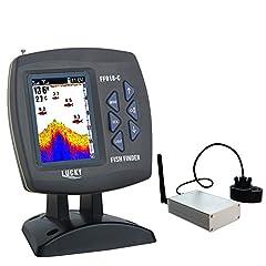 """LUCKY Fish Finder Wireless Fishfinder för bete båt med 300m räckvidd och 100m djup upptäckt, 3,5 """"LCD färgdisplay för havsfiske, isfiske, kajakfiske"""
