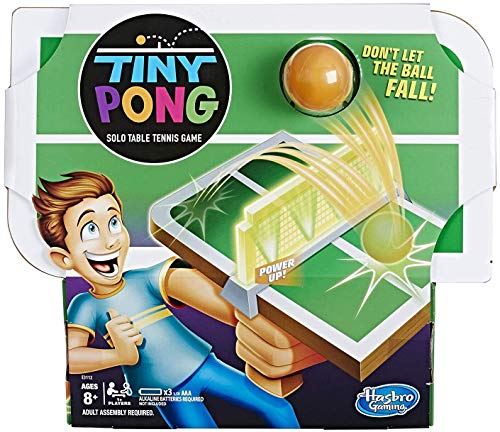 Tiny Pong Solo Table Tennis Kids Electronic Handheld Game Ages 8 and Up