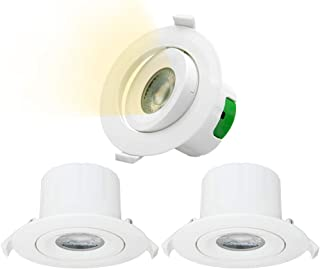 Directional 9W LED Recessed Spot Downlights Recessed LED Spot Ceiling Lights Cut Φ85-90MM Warm White Lighting 3000K AC100~...