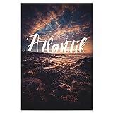 artboxONE Poster 150x100 cm Typografie Atlantik