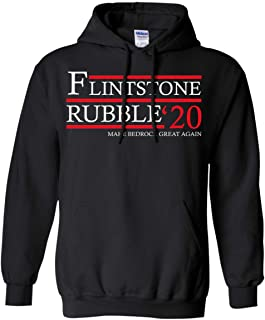 Flintstone Rubble 20 Vote Fred and Barney 2020. Make Bedrock Great Again Pullover Hoodie 8 oz.