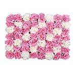 Silk Flower Arrangements LVZAIXI Manually Encrypted Hydrangea Carpet, Large Wedding Wall Hydrangea Wall