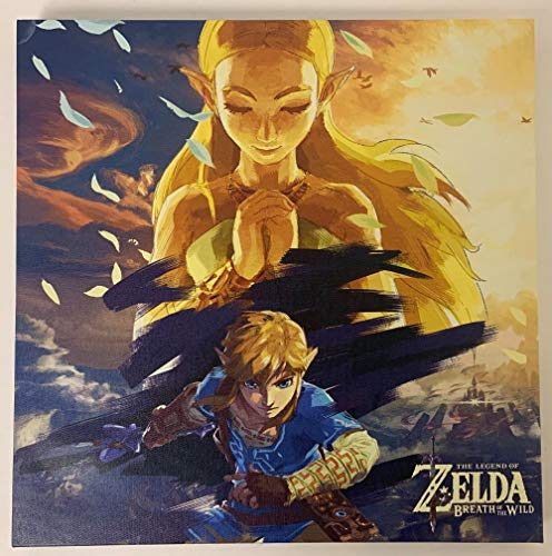 The Legend of Zelda Breath of The Wild 12x12 inch Canvas Print Poster Wall Art Decor - Link and Zelda