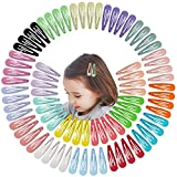 Jiaron 80PCS Hair Clips, 2 Inch Non-Slip Metal Hair Barrettes for Girls, Kids, Baby and Women. (20 Colors)