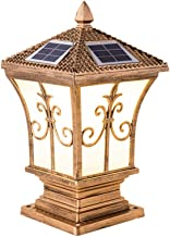 LED Garden lamp Bronze Solar Column lamp European Garden Decoration lamp Christmas Community Lighting, IP55 Weatherproof