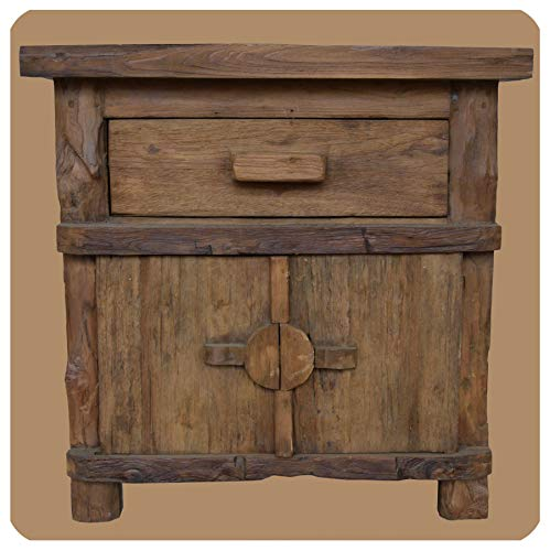 Altholz Kommode Vintage Massiv Teak Holz Möbel Unikat Handarbeit Massivholz Pur Natur Antik 4