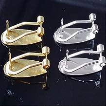 FidgetFidget Fingernail Earring Post Silver Gold Color findings Accessories 100piece=50pairs Silver 20 Pcs