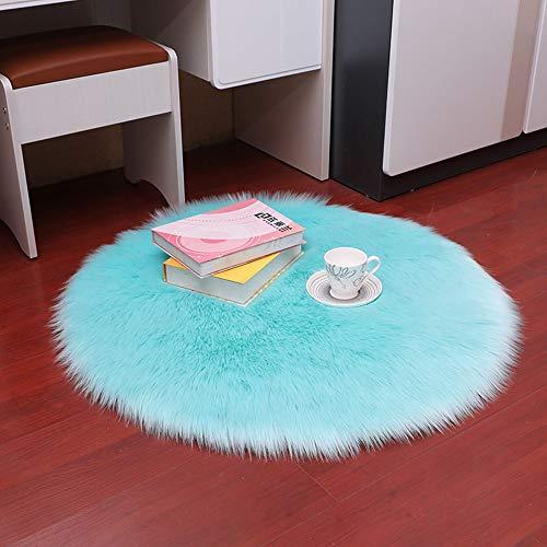 SWNN Carpet Sky Blue Plüsch Rundheits Anti-Rutsch-Teppich, Fußmatten, Polstermöbel Und Innendekoration Warm Und Komfortabel (Size : 100cm)
