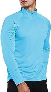 Camisetas de Manga Larga Hombre con Protección Solar UV UPF 50+ con Pulgar Agujeros