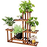 Plant Stand Wooden Shelf Tiered Flower Rack Holder Planter...