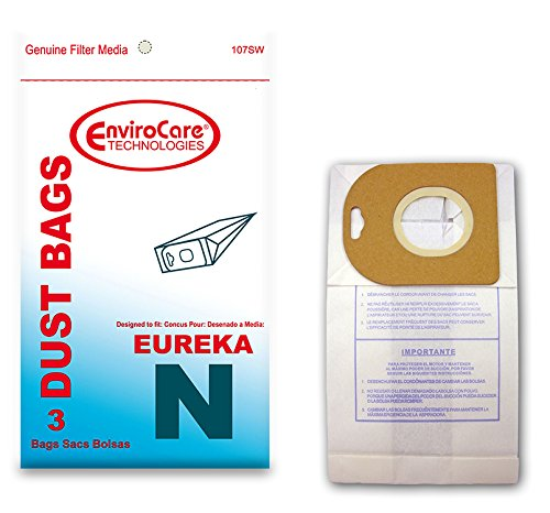 EnviroCare Replacement Vacuum Cleaner Dust Bags made to fit Eureka Mighty Mite Style N Canister Vacuums 3 Pack