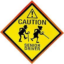 4E's Novelty Caution Senior Driver Car Magnet, 8