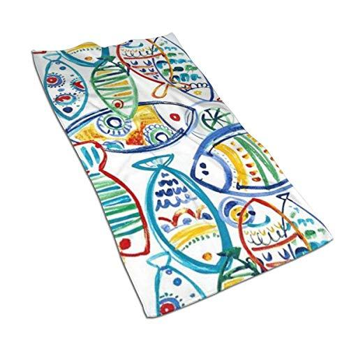 DoDoUp Handtuch Gesichtstuch Handtücher Solarium Outdoor Cast Seaside Microfiber Polyester Kitchen Towel,27.5 X 15.7 Inch Dish Towel Soft & High Absorbent Bathroom Bath Hand Towels