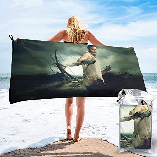 Milkcolor The Walking Dead - Toalla de baño de playa de secado rápido para viajes, camping, yoga, gimnasio, piscina, sillas, playa, toalla de baño (31,5 x 63 cm)