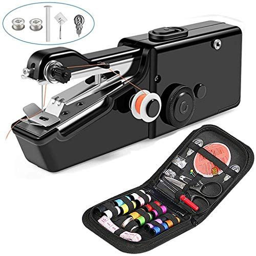 Lowest Prices! Warmshine Mini Handheld Sewing Machine Portable Hand Sewing Machine Quick Repairing S...