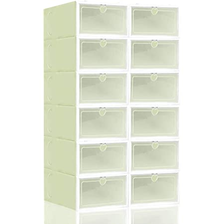 Underbed Foldable Plastic Shoe Boxes Drawer Stackable Storage Organiser Box 6//12