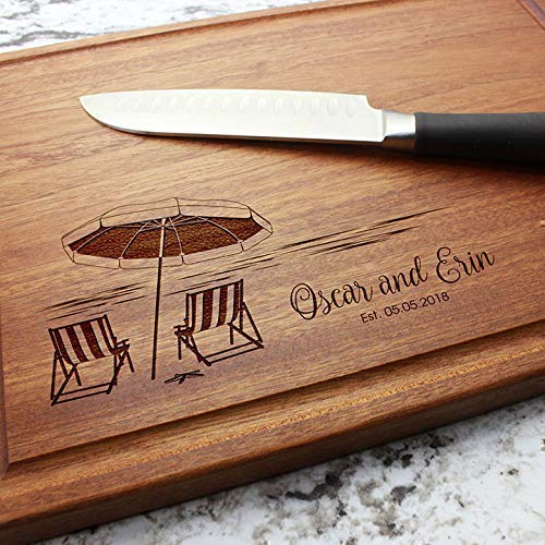 Beach Destination Personalized Cutting Board C Dealing full price reduction Engraved - Custom Free Shipping New