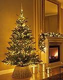 zeitzone Abdeckung für Christbaumständer Weide Grau Weihnachtsbaumständerhülle Ø 56cm