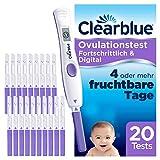 Clearblue Kinderwunsch Ovulationstest Fortschrittlich & Digital - Fruchtbarkeitstest für Eisprung, 20 Tests -