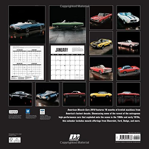 American Muscle Cars 2018: 16 Month Calendar Includes September 2017 Through December 2018