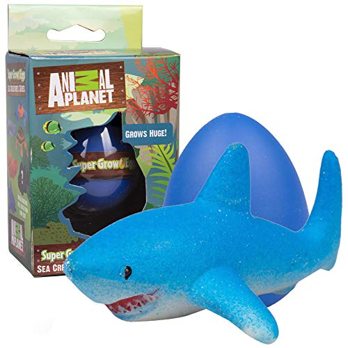 Animal Planet Super Grow Ocean Sea Creature Egg 1 Pack - Surprise Marine Animal Toys Hatch and Grow to 3X Size in Water - Discover 1 of 6 Sea Animals