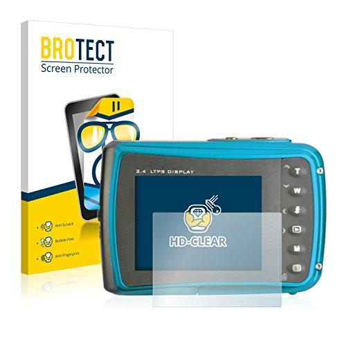 BROTECT Schutzfolie kompatibel mit easypix Aquapix W1024 Splash (2 Stück) klare Displayschutz-Folie