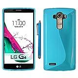 ebestStar - Funda Compatible con LG G4 H815, G4 Dual-LTE Carcasa Gel Silicona Gel TPU Motivo S-línea, S-Line Case Cover + Lápiz, Azul [Aparato: 149 x 76.2 x 9.8mm, 5.5'']