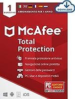 McAfee Total Protection 2021 – Antivirus per PC/Mac e smartphone – 1 dispositivo