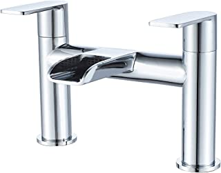 Sponsored Ad – Waterfall Bath Taps,NewEast Medern Round Double Lever Bathroom Filler Mixer Tap Tub Tap Chrome