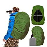 Joy Walker Waterproof Backpack Rain Cover for (15-90L), Upgraded Anti-Slip Cross Buckle Straps, Triple Strengthened Layers for Hiking Camping Traveling Cycling (Military Green, L)