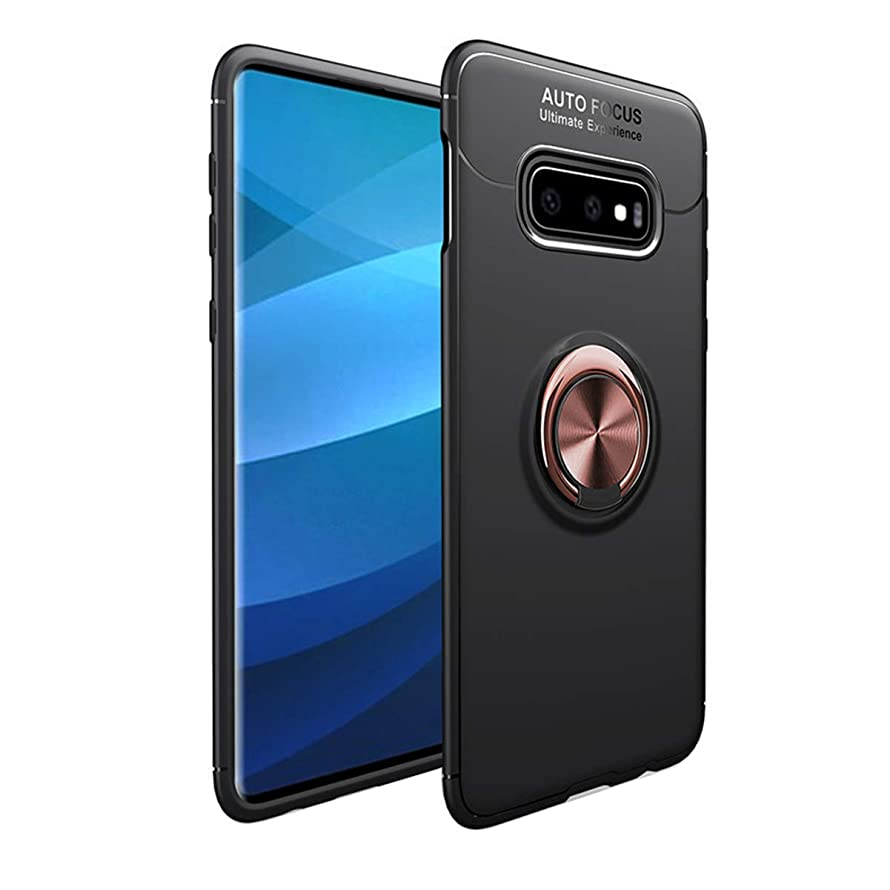Woskko Galaxy S10e Case, Car Holder Stand Magnetic Bracket Finger Ring TPU Cover