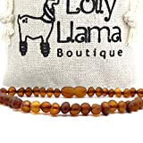 Adult Raw Baroque Baltic Amber Necklace - All Natural Pain Relief for Adults to Help Migraines, Sinus, Arthritis and More! - Raw Cognac (16 Inches)
