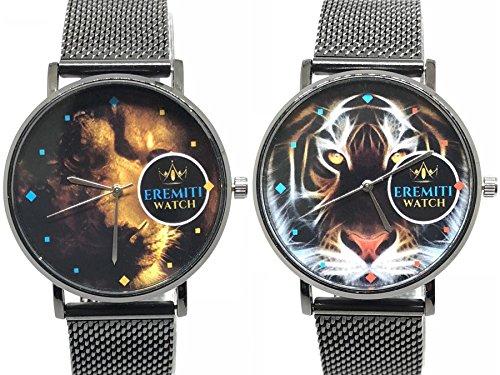 Eremiti Jewels - Juego de relojes para pareja, con correa de malla mil