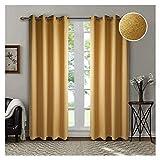 Singinglory Juego de 2 cortinas opacas de 140 x 245 cm, con ojales térmicos y...