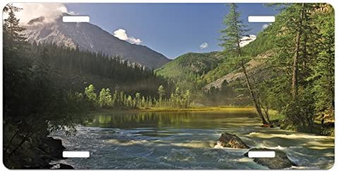 Lunarable Landscape Max Baltimore Mall 51% OFF License Plate Mountain Al Siberia Lake West