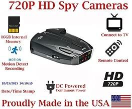 SecureGuard HD 720p Vehicle Dash Cam Radar Detector Car Vehicle Spy Camera Covert Hidden Nanny Camera Spy Gadget