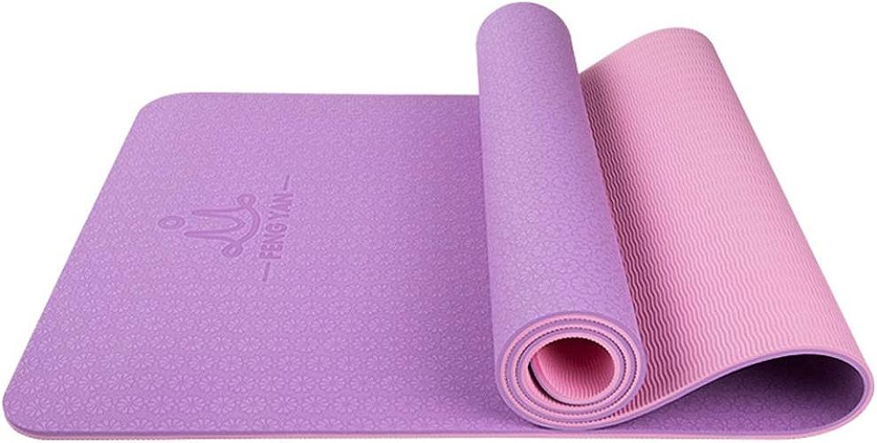Tapis de Yoga TPE Tapis de Yoga épaississement Anti-dérapant Femme Yoga Danse débutant Fitness Mat Mat Sport WXFO (Couleur   C, Taille   8mm)