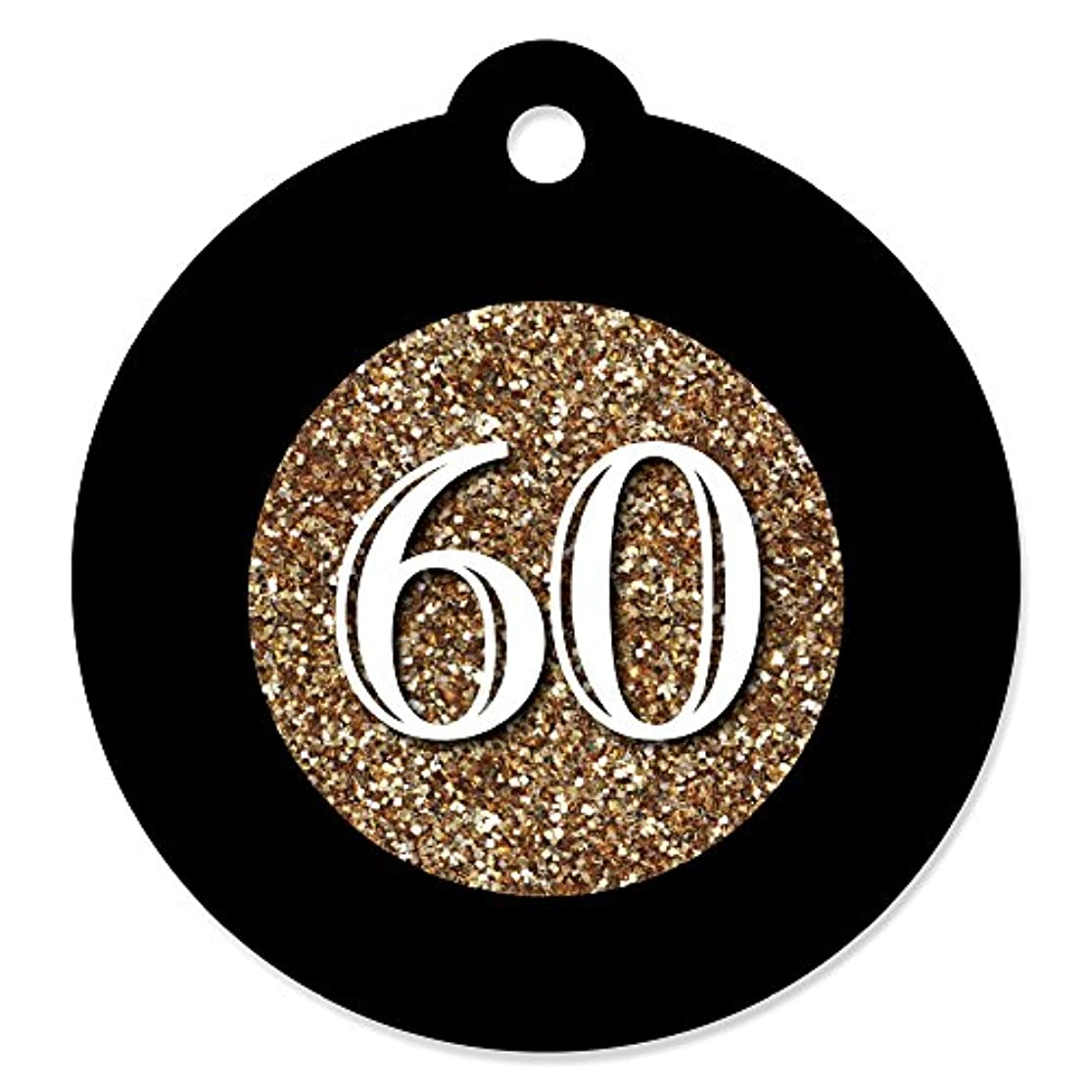 Adult 60th Birthday - Gold - Birthday Party Favor Gift Tags (Set of 20) jmkmjkbr2