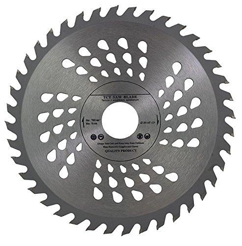 Hoja de sierra circular de calidad, 200 x 32 mm con orificio (anillo reductor de 30 mm, 28 mm, 25 mm, 22 mm y 20 mm) para discos de corte de madera, 200 mm x 32 mm x 40 dientes.