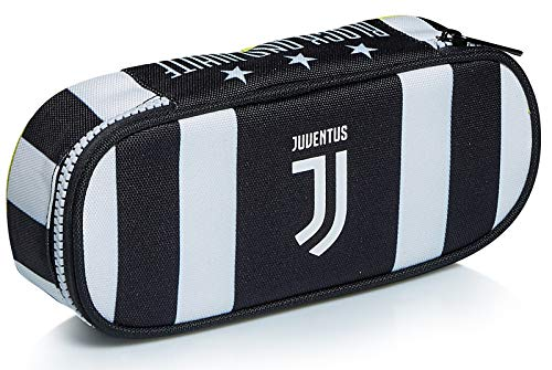 Bustina Ovale Juventus, Best Match, Bianco e Nera, Con Elastici Porta Matite, Portapenne Scuola