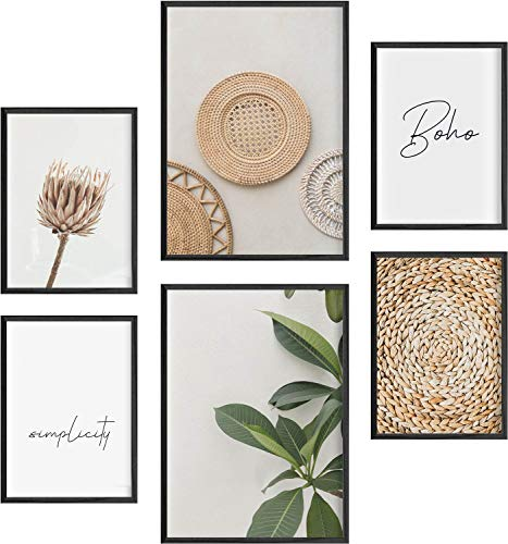 Mia Félice Deko Bilder für das Wohnzimmer modern und angesagt, Premium Poster Set » Boho « Tumblr Deko Wand Bild, Dekoration Wohnung modern, Deko Schlafzimmer, Zimmer Deko OHNE BILDERRAHMEN